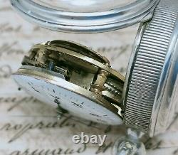 Former Gousset Watch Silver Rooster Bordier Geneva To Revise Old Watch Punch