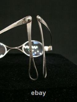 Former Pair Of Silver Fold Glasses Debut XIX Eme Lorgnons Binocle