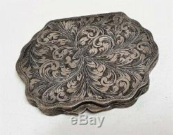 Former Poudrier Sterling Silver Chiselled Greens / T36