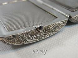 Former Rare Minaudiere Poudrier Bag Silver Guilloche Powder Box Silver