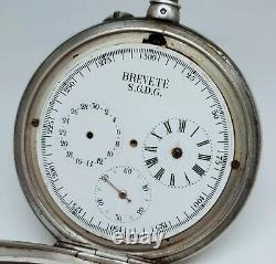 Former Rare Watch Gousset Complications 1890 To Revise S. G. D. G Old Watch