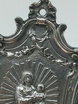 Former Silver Benitier Massive Minerve Ancient Virgin Silver Stoup 19 Th
