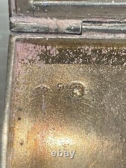 Former Silver Pudding Massive Ruby Art Deco Silver Powder Compact