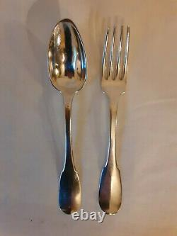 Former Solid Silver Cutlery 19th 24 Pieces