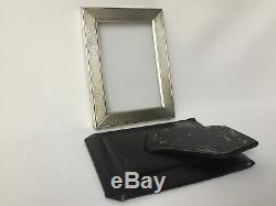 Frame Silver Hallmark Hallmark Minerva Guilloché Old Crown E300