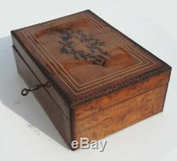 Gift Box Sewing Kit Old XIX Silver French Sewing Box Case