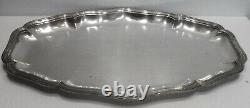 Grand Flat Old Solid Silver Tray Nets Marli 1180 Grams Contours
