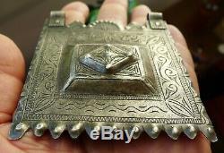 Hallmark Silver Pendant Necklace Antique Silver Ancient Morocco Moroccan During