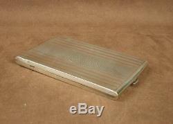 Important Box, Ancient Art Deco Cigarette Case In Silver 170g