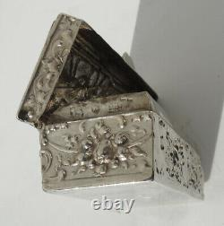Jewelry Box Stamps Old Argent Massif 19th Century