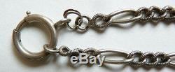 Large Chain Necklace Necklace Silver Solid Jewel Old Silver Chain 54 Gr