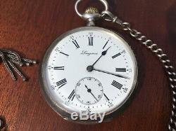 Longines Old Gusset Watch, Sterling Silver, Paris Grand Prix