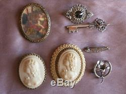 Lot Of Antique Jewelry And Vintage Sterling Silver Rattle + Restore