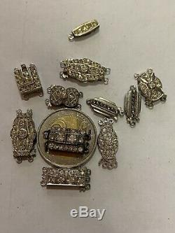 Lot Old Clasp In Sterling Silver Nine Of Stock Somewhat Dated Most Beautiful In True