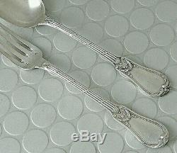 Lot Old Covered 6 Forks + 6 Spoon Sterling Silver Lapar XIX 1kg070