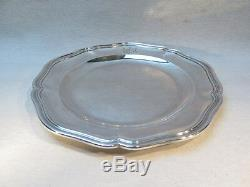 Louis Aucoc Aine Grand Old Flat In Sterling Silver Louis XV Style Armorier