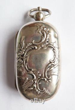 Louis XV Silver Holder Aumonière Old 19th Century Silver Coin Holder