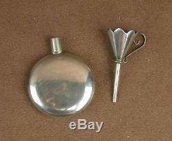 Lovely Old Perfume Bottle In Sterling Silver And Its Funnel
