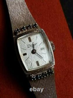 Magnificent Difor Old Women's Watch In Massive Silver. Sertie De Sapphires