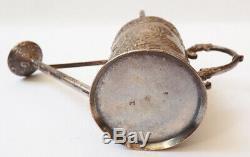 Miniature Watering Can Old Silver Statuette Silver Cherub Angel