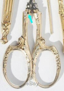 Necessary To Old Sewing Gilt Silver Fingerhut Napoleon III Box