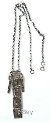 Necklace Necklace Art Deco Silver Necklace Silver Jewel Old To 1925