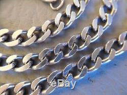 Necklace Old Chain maille Gourmette Silver Massif 62 CM Man Woman Chain