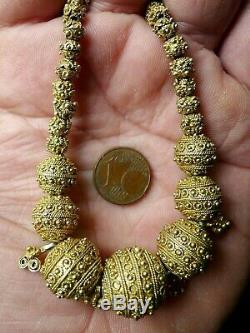 Necklace Pearl Silver Filigree Former Mauritania Africa Antique Granulated Bead