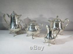 Odiot Paris Old Service The Cafe In Sterling Silver Louis XVI Style Armorie