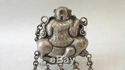 Old And Beautiful Silver Pendant Frog Divinity 19th China Chinese