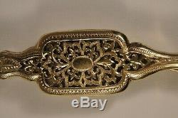 Old Antique Gilt Spectacles Spyglass Opera Glasses Solid Silver 19th C