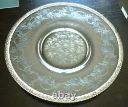 Old Appearance Plate Cristal Grave Silver Massif, Xixeme, Roses, Roses
