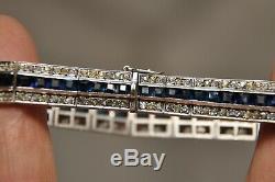 Old Art Deco Bracelet Sterling Silver Antique Solid Silver Bracelet