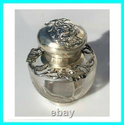 Old Art New Crystal Glass Argent Massif 19th