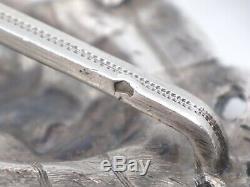 Old Belt Buckle In Silver Empire Period XIX