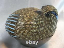 Old Bird Pair Box Enamel Sterling Silver Vermeil Email Silver Bird Chinese