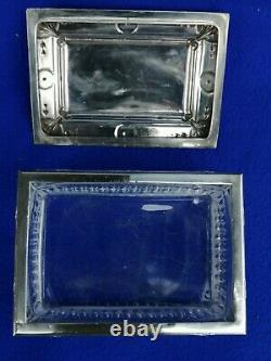 Old Box Crystal Box Solid Silver Minerve Silver Crystal Box