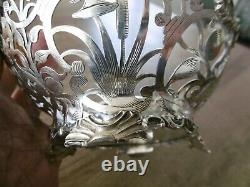 Old Cut Basket Basket In Solid Silver Pierced Open Holland Low Country