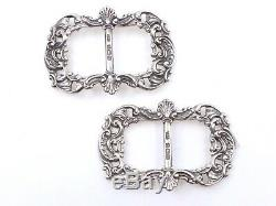 Old English Loops Solid Work Silver Shoes 1900