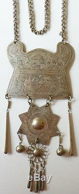 Old Ethnic Necklace In Sterling Silver Vietnam Indochina China