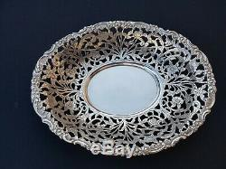 Old Flat / Candy Tray Oval Sterling Silver 833. A Minerva Amsterdam