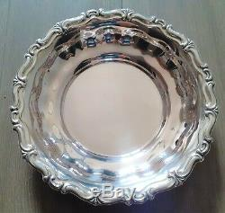 Old Flat Hollow Round Sterling Silver 800 Hallmark Contour Engraved Old Silver