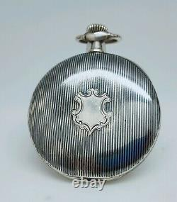 Old Gousset Silver Denied Omega To Review Numbered Old Pocket Watch
