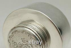 Old Inkwell Sterling Silver Hallmark Minerva Engraving Old Silver Frills