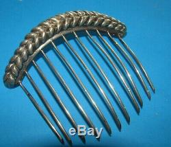 Old Jewelry Tiare Comb Diademe Crown Silver Massif 34 Gr Napoleon 3 19th
