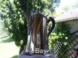 Old Jug Coffee Maker Unselfish Punch Minerva-sterling Silver-silver
