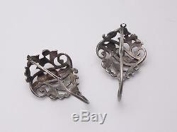 Old Large Sterling Silver Earrings Eighteenth Regional Earrings