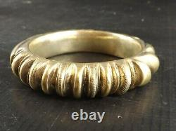 Old Massive Silver Bracelet, Vermeil. Berber Work, North Africa