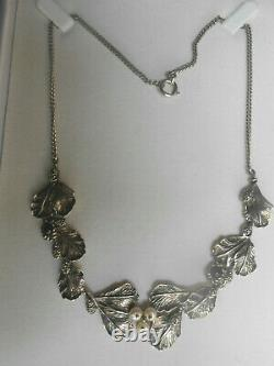 Old Necklace Sheets And Beads In Solid Silver 925 27 Grs