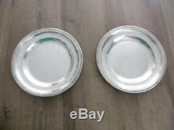 Old Pair Of Plates In Solid Silver Punch 1 Rooster 887 Gr